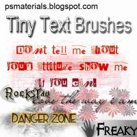 tiny text brushes by vishalrokez
