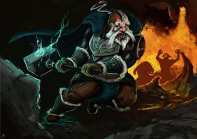 Dwarven charge by Draconius666