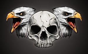 Eagles'n'skull by Cisoun