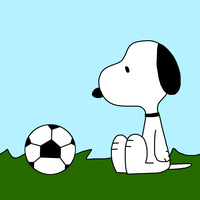 Snoopy with a soccer ball by MarcosLucky96