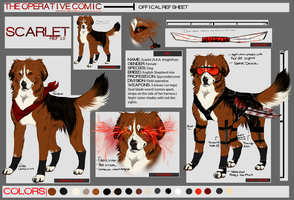 Scarlet ref sheet (redesigned) by AgentWhiteHawk