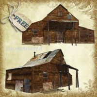 Old Shack Set by Just-A-Little-Knotty