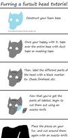 Furring a fursuit head - Simple Tutorial by WolfTwine