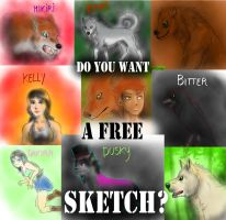 Free sketches by me! Yay! by FuriarossaAndMimma