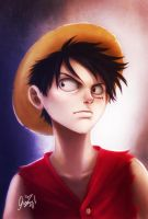 Monkey D. Luffy by cherlye