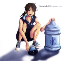 Water Delivery Girl by johannady2
