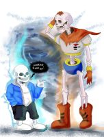 Papyrus And Sans by ShadowChaser12