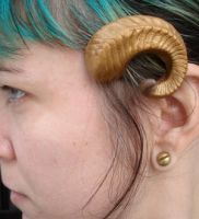 Ram horn cast barrette 3 by missmonster