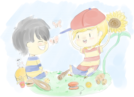 Ness and Lucas by Pikadventures