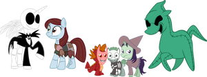 Nightmare characters Ponys by ajacqmain