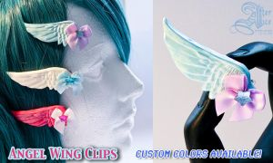 Pearl Angel Wing Clips by GenIshihara