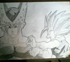 Gohan and Cell by RuokDbz98