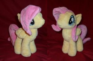 Shy Plush Pony by LyrasPlush