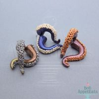 Customizable Tentacle Earrings by Bon-AppetEats