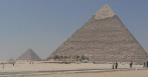 pyramids of giza by miss-blondie