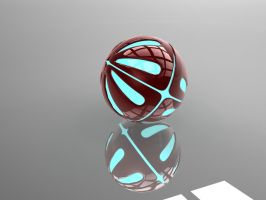 Armoured 3d Ball with glowing core by cytherina