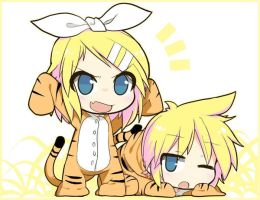 Kagamine Tigers! by Ladfa-B