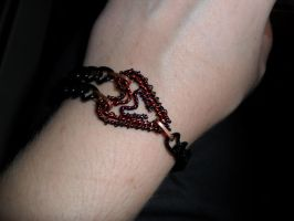 Gothic Heart Bracelet by Chryssta