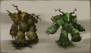 Leaf Golems by Maripon
