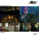 Sweat Release#7: Movie Screenshot study by DracowormArt