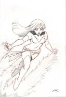 Dark Phoenix Sketch by em-scribbles