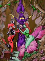 Batgirl, Poison Ivy, and Harley by Marvelmania by cgbutler