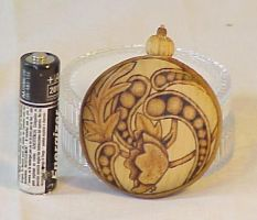 wood pocket watch back by Silver-Shadow-Light