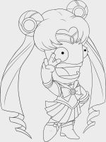 Lineart Sailor Mun by Whimsy-Floof