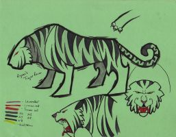 Concept Art- Ryuu as Tiger by Yavanni