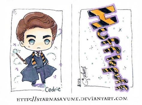 Cedric Diggory Chibi Commission by StarMasayume
