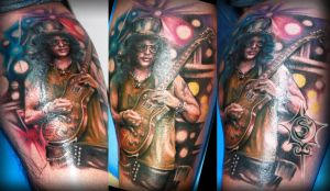 Slash Portrait Tattoo by illogan