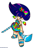 Stocking: Crazy Rainbow Cake by Kaze-yo