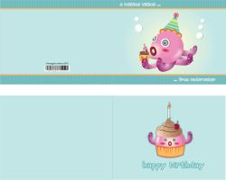 Birthday Card Octopus by jmanggala