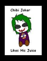 Chibi Joker Likes His Juice by The-Smile-Giver