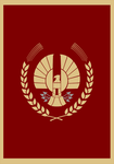 Hunger Games Panem Capitol Flag by Enlightenup23