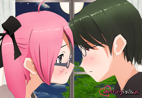 [DFU VN] Just Before the Kiss CG by DestinyFailsUs