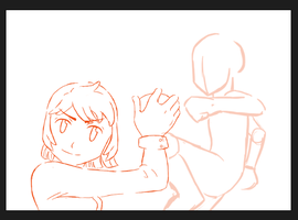 Pokemon trainer twins request wip by ProudToSketch