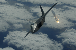 F22 Deploys Flares by pilotroom