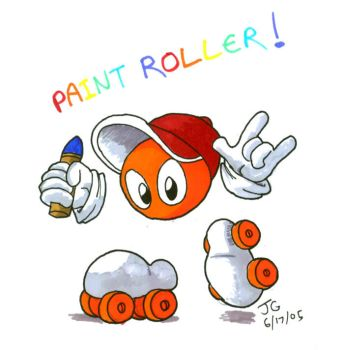 Paint Roller by greliz