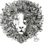 Lion Doodle by lbergart