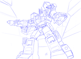 Tf - Ultra Magnus - Blue Sketch by Mono-Phos