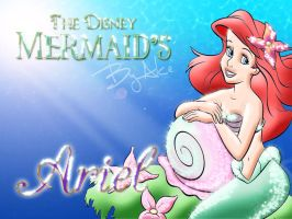 The Disney Mermaids - Ariel by Alce1977