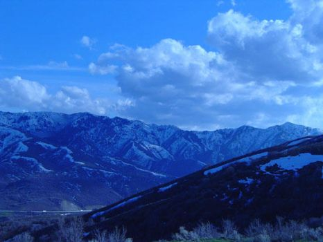 SLC Mountains by faynt