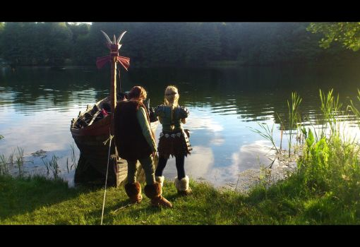 Astrid, Hiccup Cosplay (How To Train Your Dragon) by DragonWorkshop-de