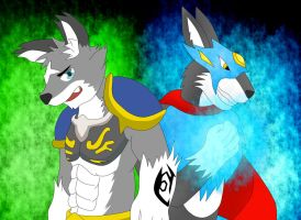 Wing Wolf and Wolferion by PhoenixWulf