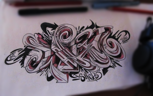 Graffiti Sketch # sketchBattle XPRT by SmecKiN