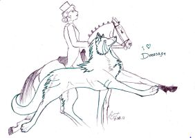 I Love Dressage by GureeOokami