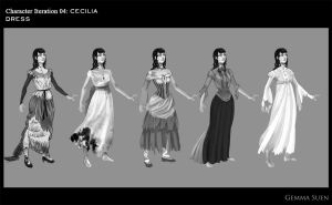 Character iteration- Cecilias Dress by GemmaSuen