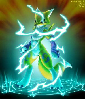 Summoned Renamon overpowered by GabrielX99