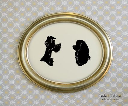 Lady and the Tramp Silhouettes by fit51391